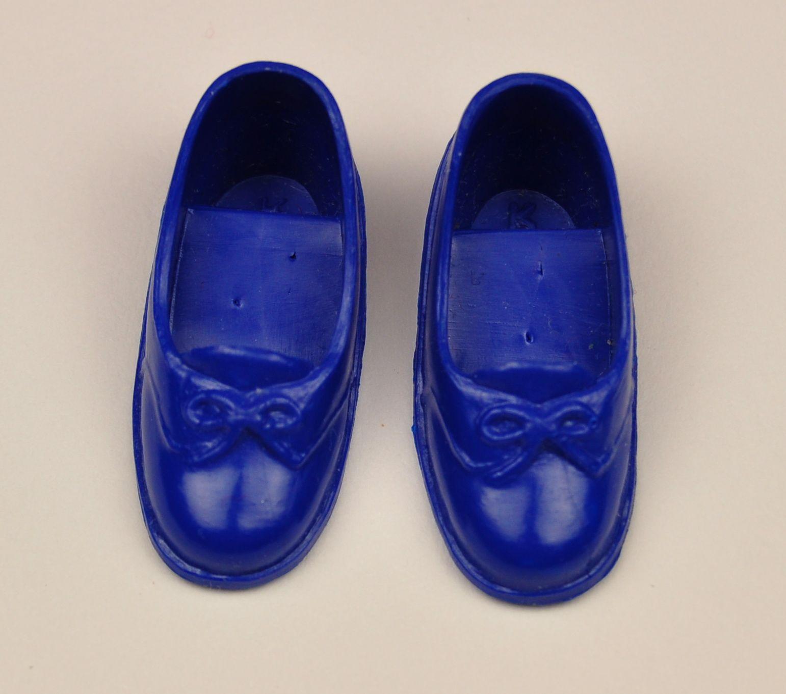 Vintage Miniature Sindy Fashion Doll Blue  Shoes Sandals Mules