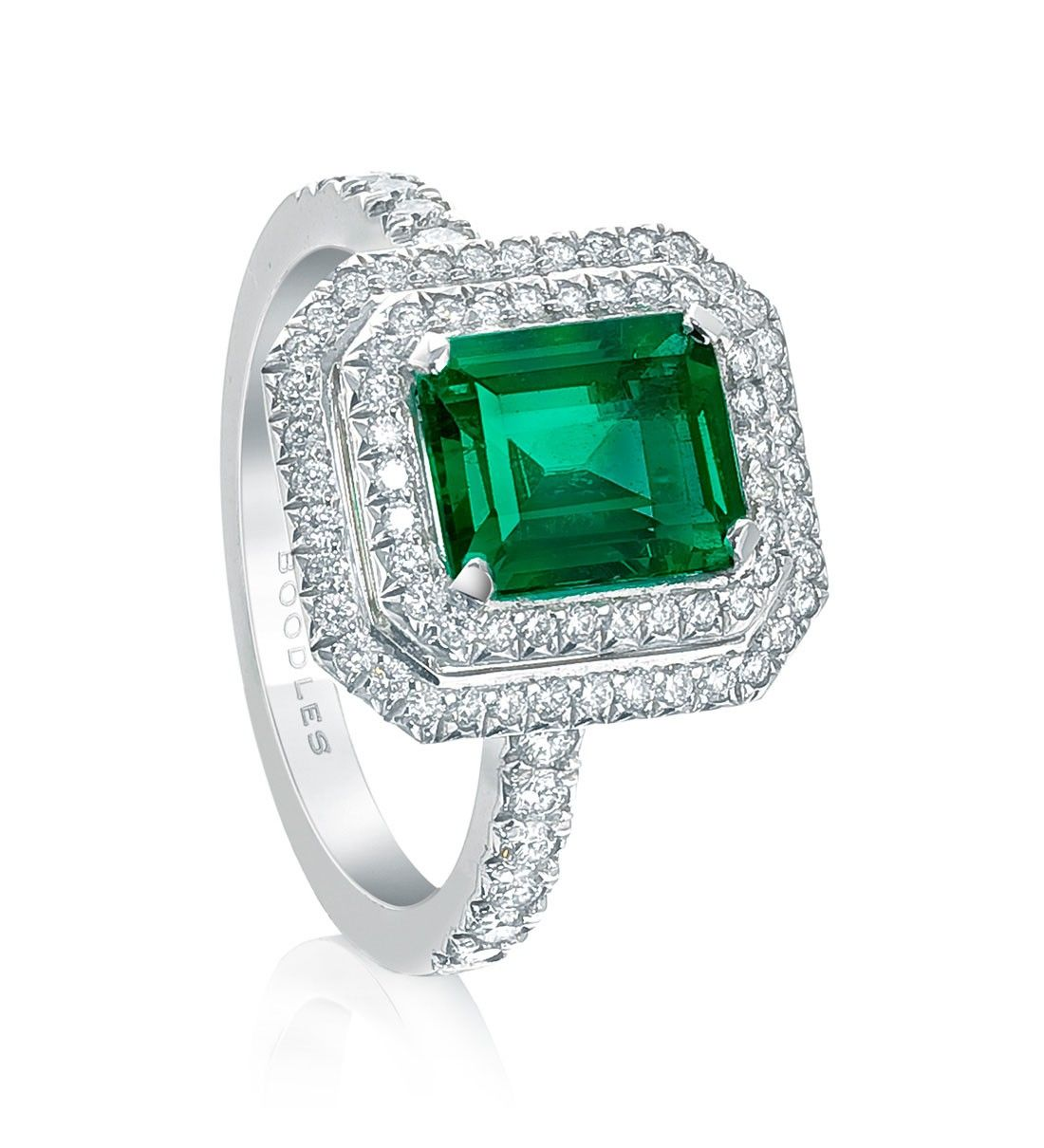 Boodles Double Vintage Emerald Ring from the Vintage collection