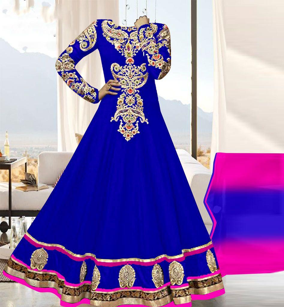 AMAZING 60GM GEORGETTE PARTY WEAR ANARKALI DRESS BY STYLISHBAZAAR KFHEA233C