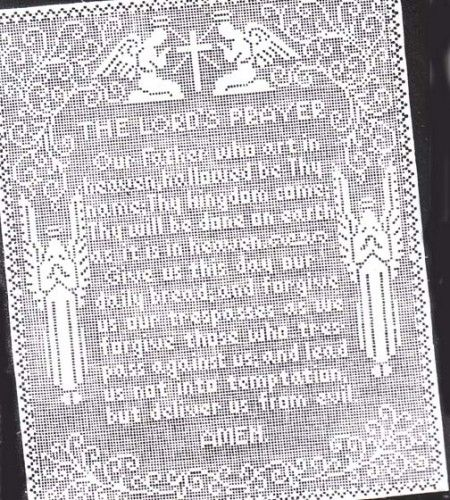 FILET CROCHET PATTERN LORD PRAYER « CROCHET FREE PATTERNS | Handmade ...