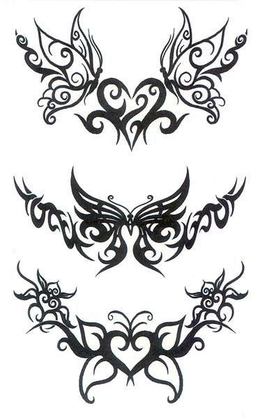 I like this ** Decrease Again Tattoo   Of Short-term Tattoos Butterfly Tribal Again - Free Obtain T...