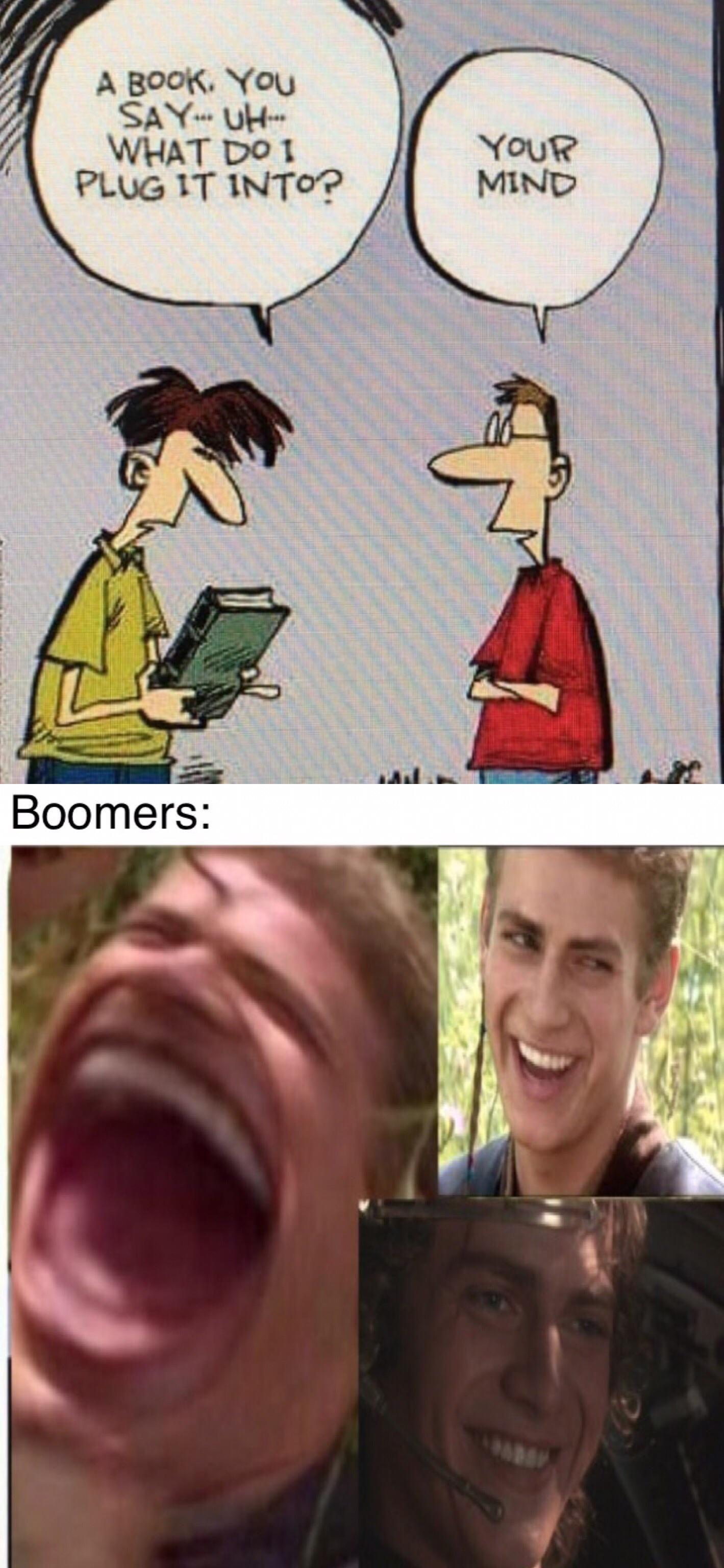 PrequelMemes ok boomer Ok boomer, Funny jokes, Boomer