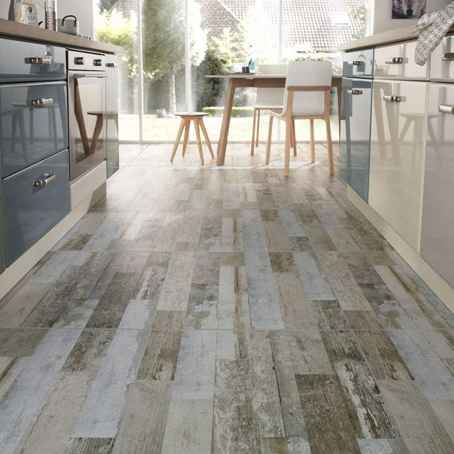 Carrelage sol gris warmwood 60 x 60 cm castorama for Carrelage imitation bois blanc