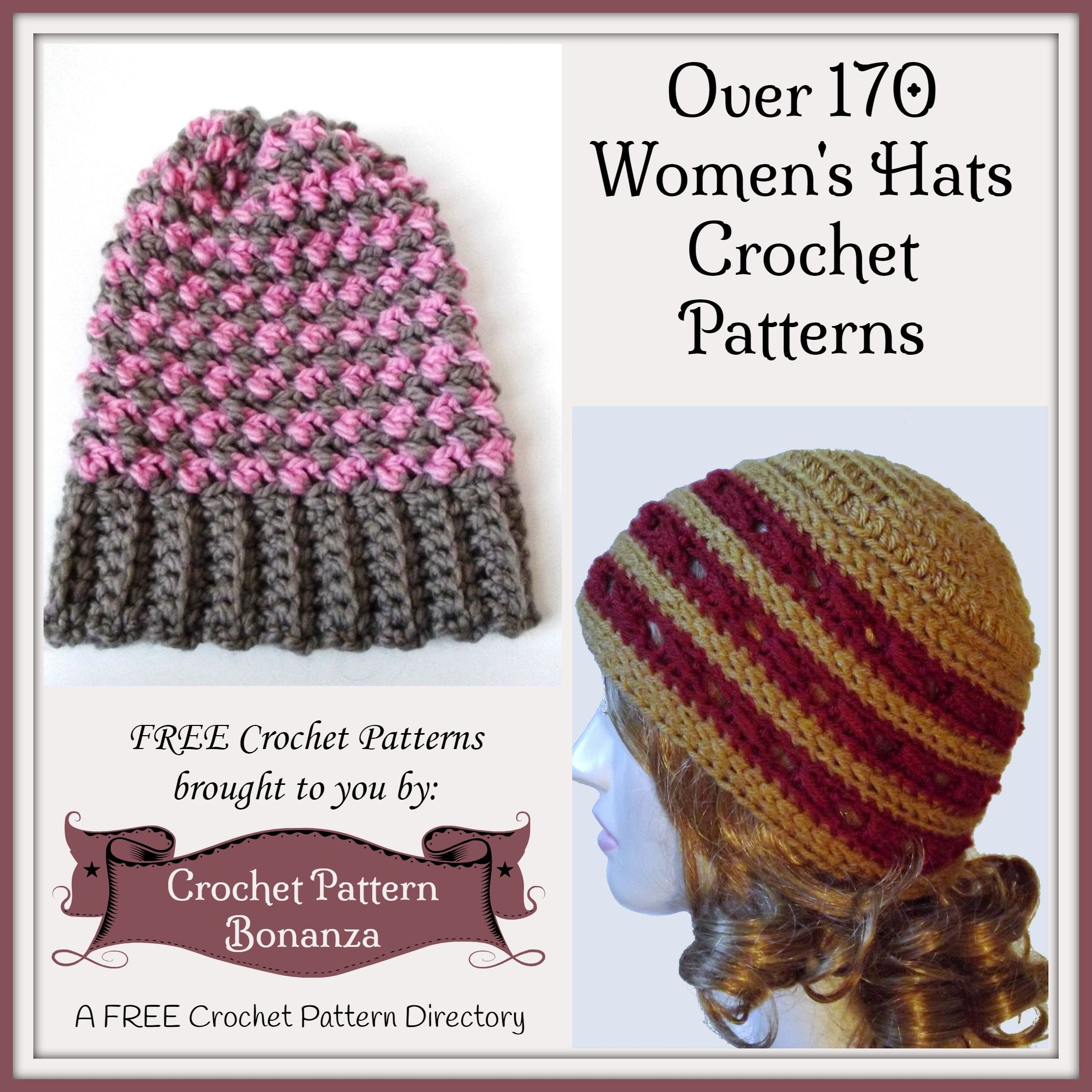 Free crochet patterns for Women\'s Hats - A Collection on Crochet ...