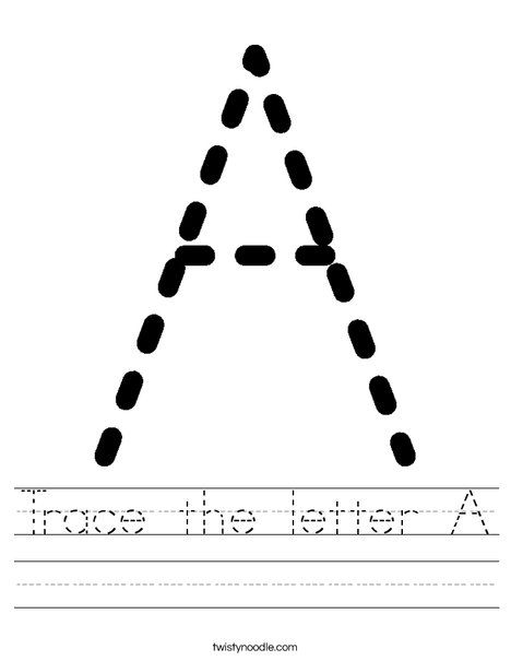 Great Site Trace The Letter A Worksheet From