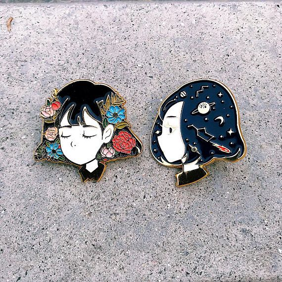 Reverie Gold Enamel Pin 1.4 inches