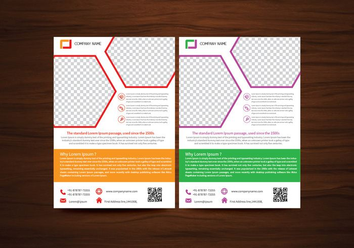 vector brochure flyer design layout template in a4 size free