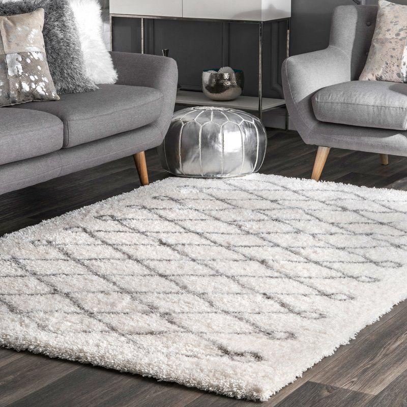 Henson Geometric White/Gray Area Rug Rugs, Area rugs