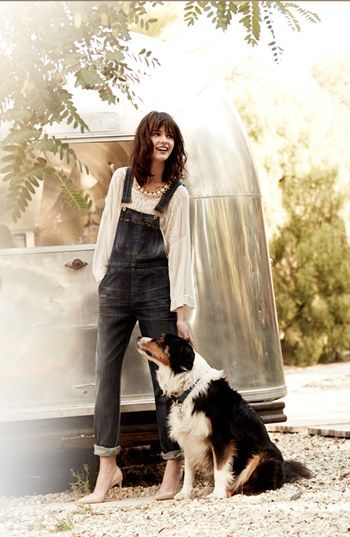 Free People Top & Citizens of Humanity Overalls  available at #Nordstrom (yes, but the overalls are $297!)