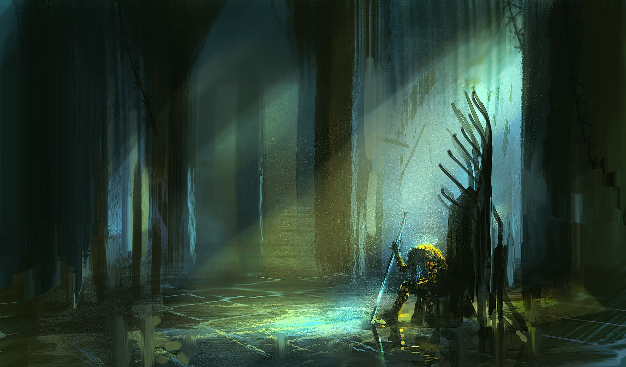 30 Min Speed Paint At Daily Spitpaint Topic: The Longest Sword I
