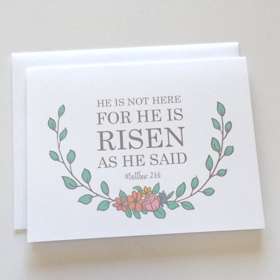 He Is Risen - Easter Card - He is Not Here For He Is Risen As He - free printable religious easter cards