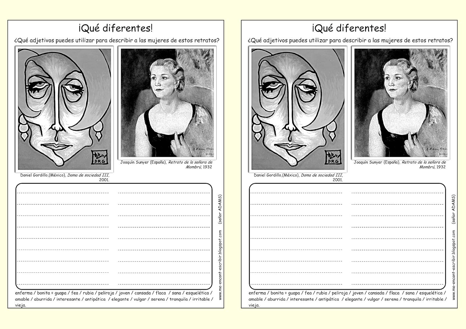 Me Encanta Escribir En Espanol Retratos De Mujeres