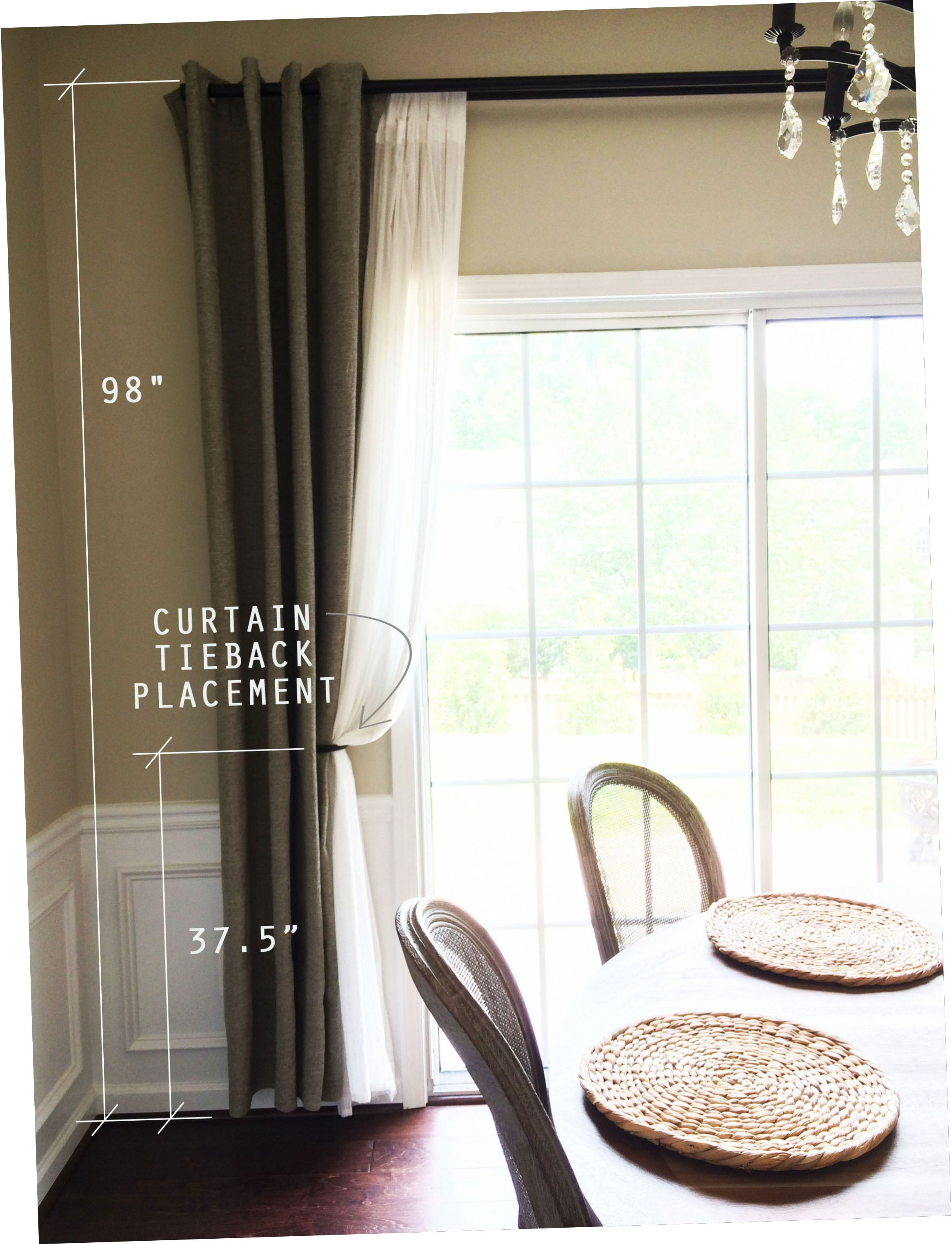 where to mount curtain tie backs image