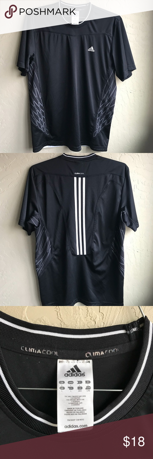aa811a14d ADIDAS Clima cool Dri Fit Athletic T shirt Large Excellent condition Men's Adidas  Climacool Dri Fit Athletic t shirt Black Large! No stains or snags!