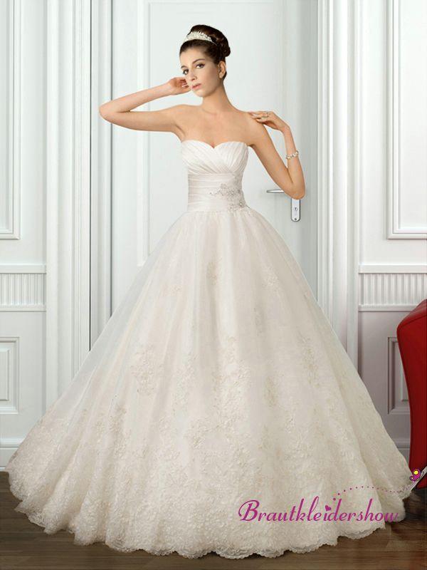 Prinzessin Brautkleid Vintage Spitze Luxus Kristallstein GWRW172 ...