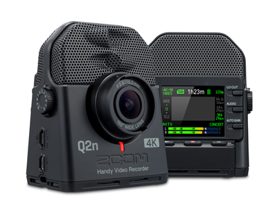 Zoom Q2n 4k Handy Video Recorder Concert Lights Camera Wide