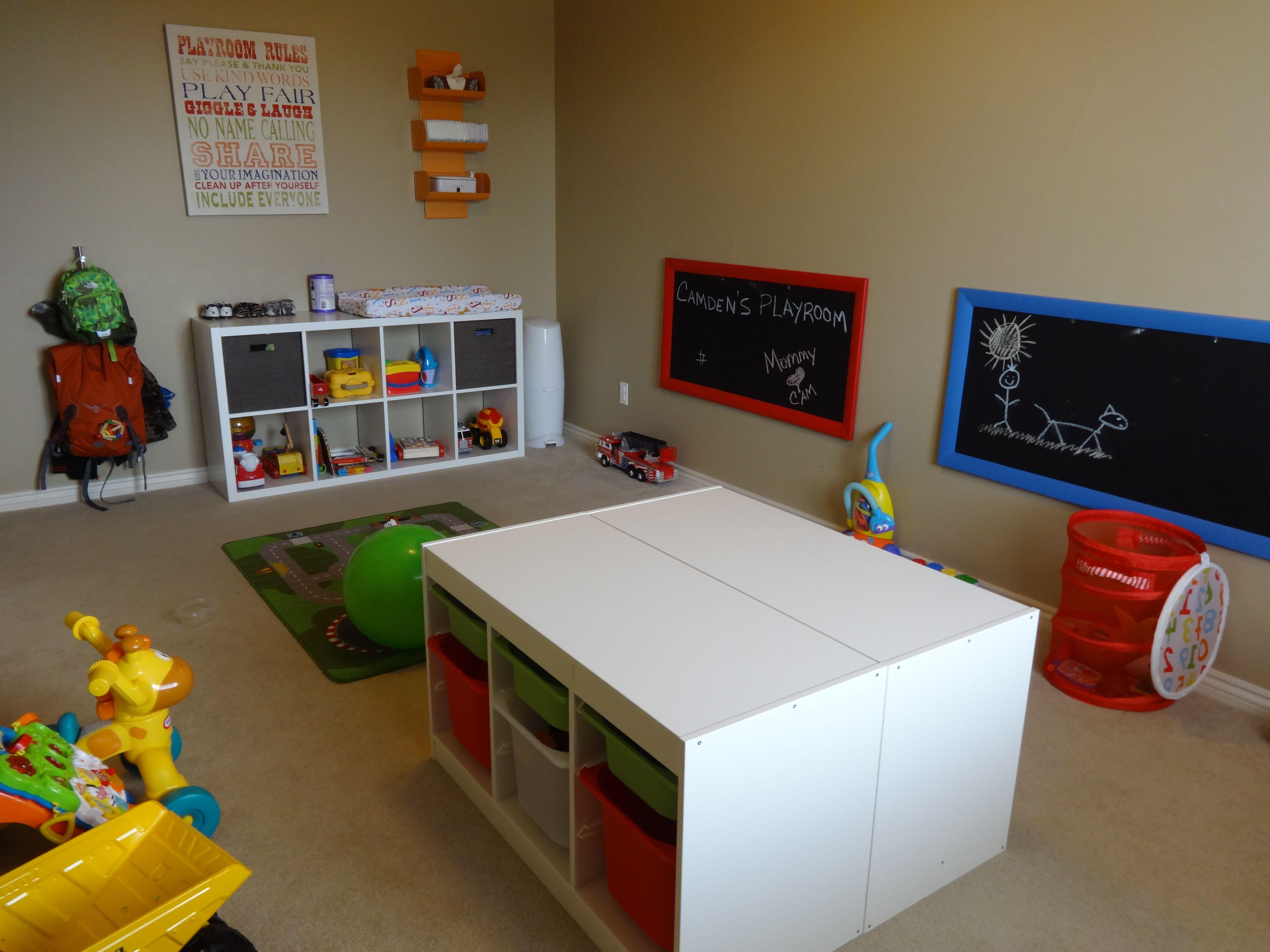 Pin By Carla Alvarado On Playroom Ikea Trofast Playroom Kids Play Room Organization