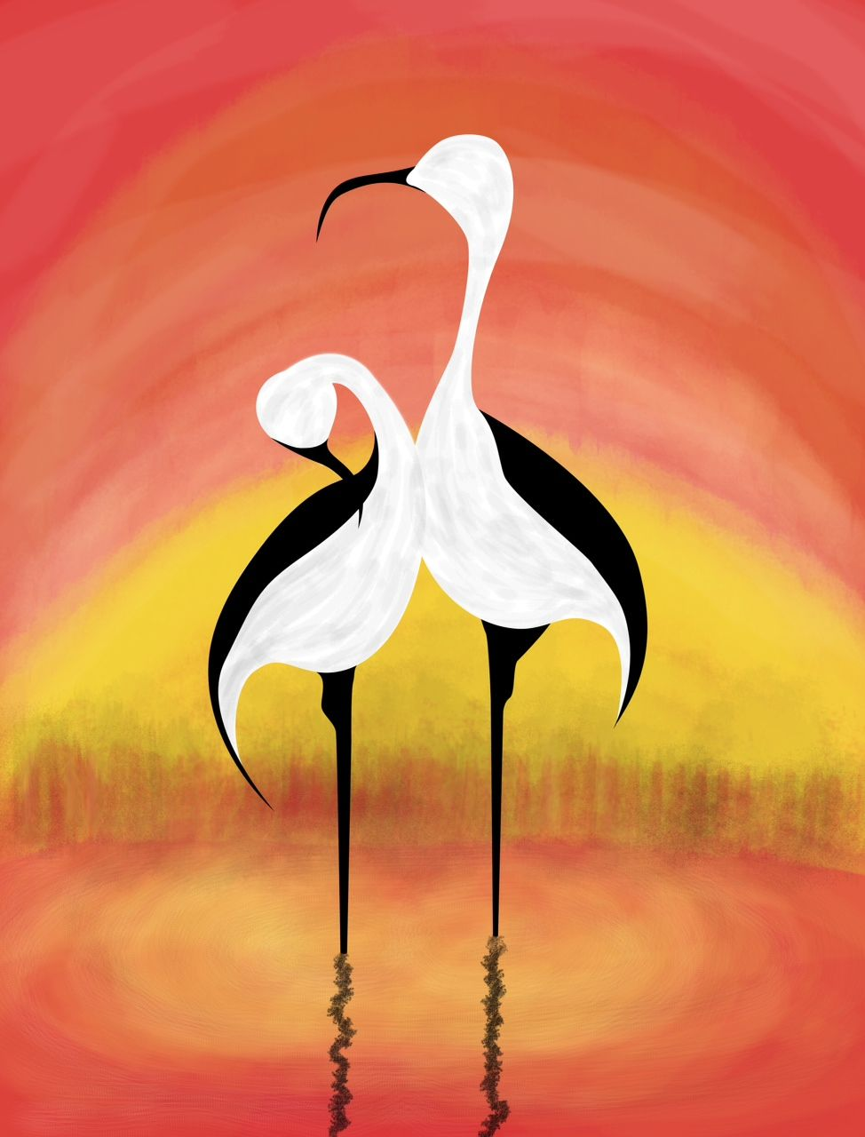 Cranes Symbolize Longevity In Feng Shui And Are Used As A Cure To