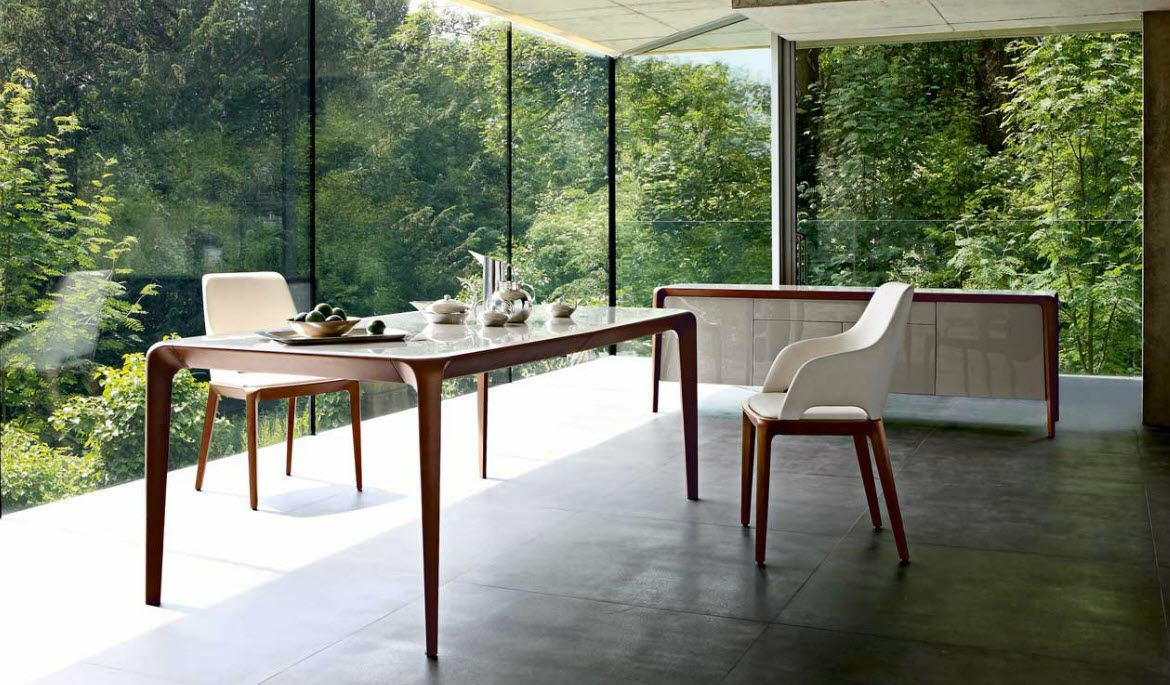 contemporary dining table BRIO by Sacha Lakic ROCHE BOBOIS
