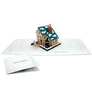 Pop Up Card Christmas House Christmas Craft Cards Gift Cardcanon Crea Pop Up Cards Free Christmas Printables Christmas Card Crafts