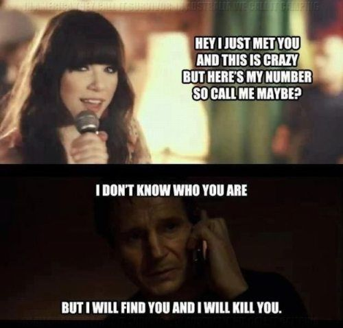 hahahahahaha!!! @Carly Downey, gabriel, thomas, and i just cracked up at this for 10 minutes...then we listened to call me maybe