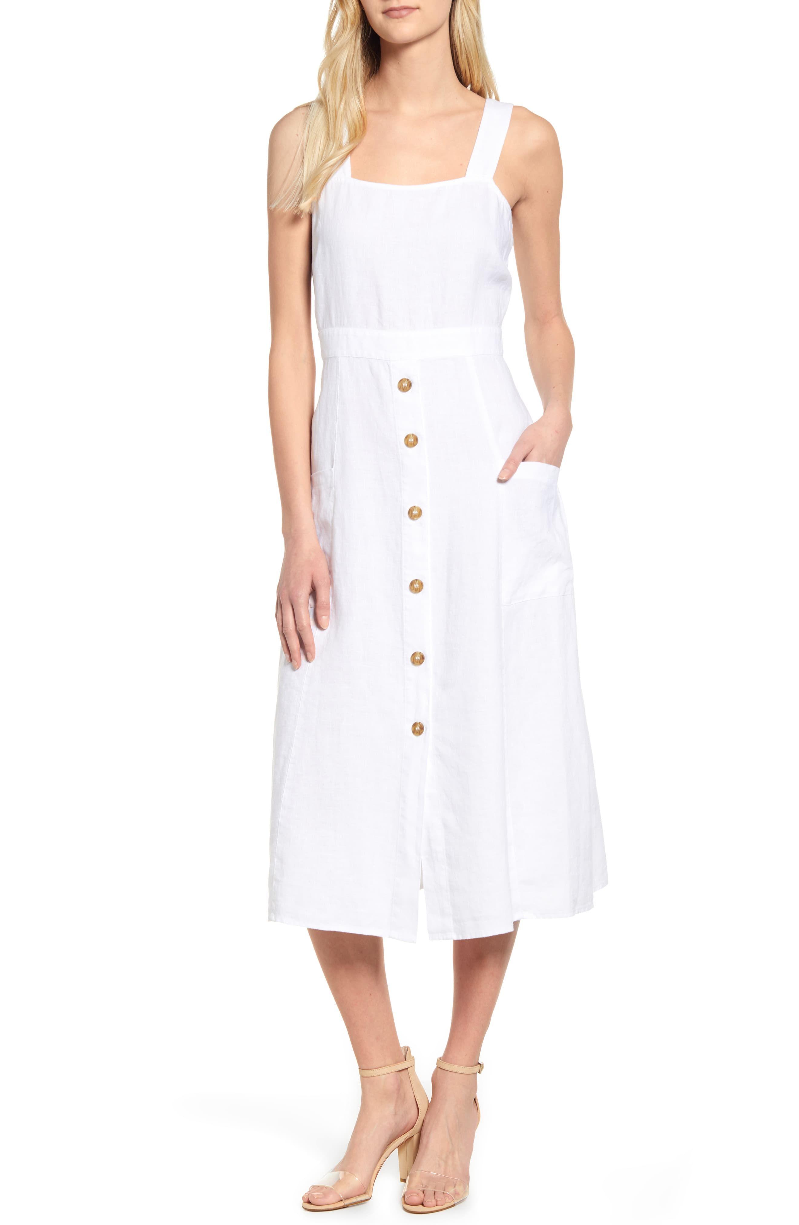 Vince Camuto A Line Linen Dress Nordstrom Dresses Nordstrom Dresses A Line Dress [ 4048 x 2640 Pixel ]