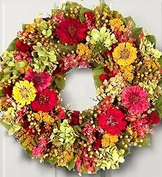 Wreath Of The Season - Wreath Of The Season ($ Per Delivery) $49.99 Spring, Summer, Fall, Winter -- make their home welcoming inside and out all year long with the Seasonal Wreath gift program. Ready to greet guests with everlasting elegance and continuous smiles, these four seasonal wreaths combine to create 12 months of enjoyment.
