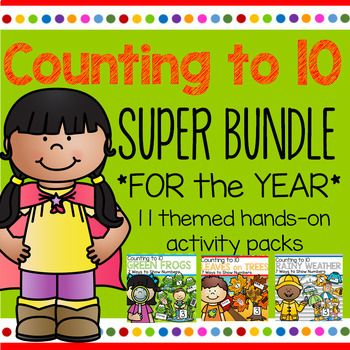 """SAVE BIG with this bundle of eleven """"Counting to 10 ..."""
