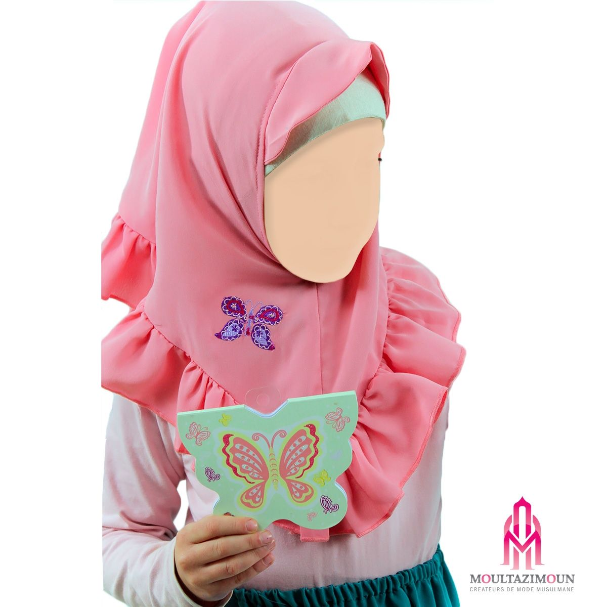 Hijab Papillon Enfant Boutique Muslim Kids Girl Jilbab