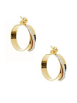 Lana Jewelry Small Vanity 14K Hoop Earrings l6XfHH