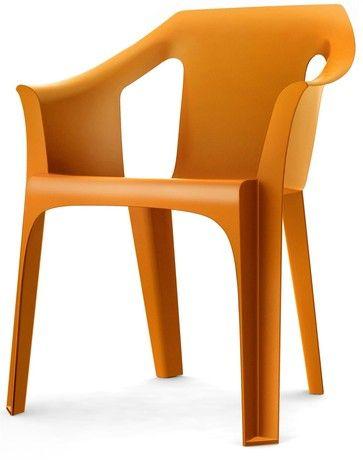 Resol Cool Garden Outdoor Indoor Designer Plastic Chair Orange Furniture 1