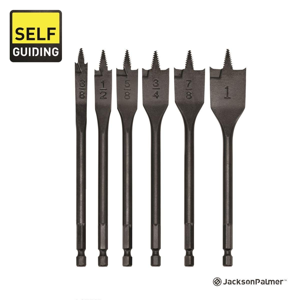 Self Guiding 6 Piece Spade Bit Set High Grade Carbon Steel With Quick Change Shank And 3200 Max Rpm You Can Get Additional Detai In 2020 Carbon Steel Carbon Steel