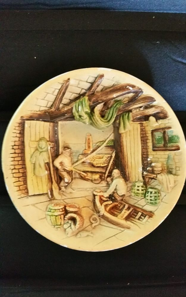 Wall Hanging 3D Plaster Cast Plaque Plate Picture Vintage Old ...