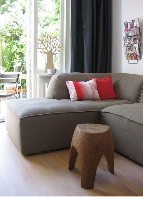 Couch and tree stool. love it!