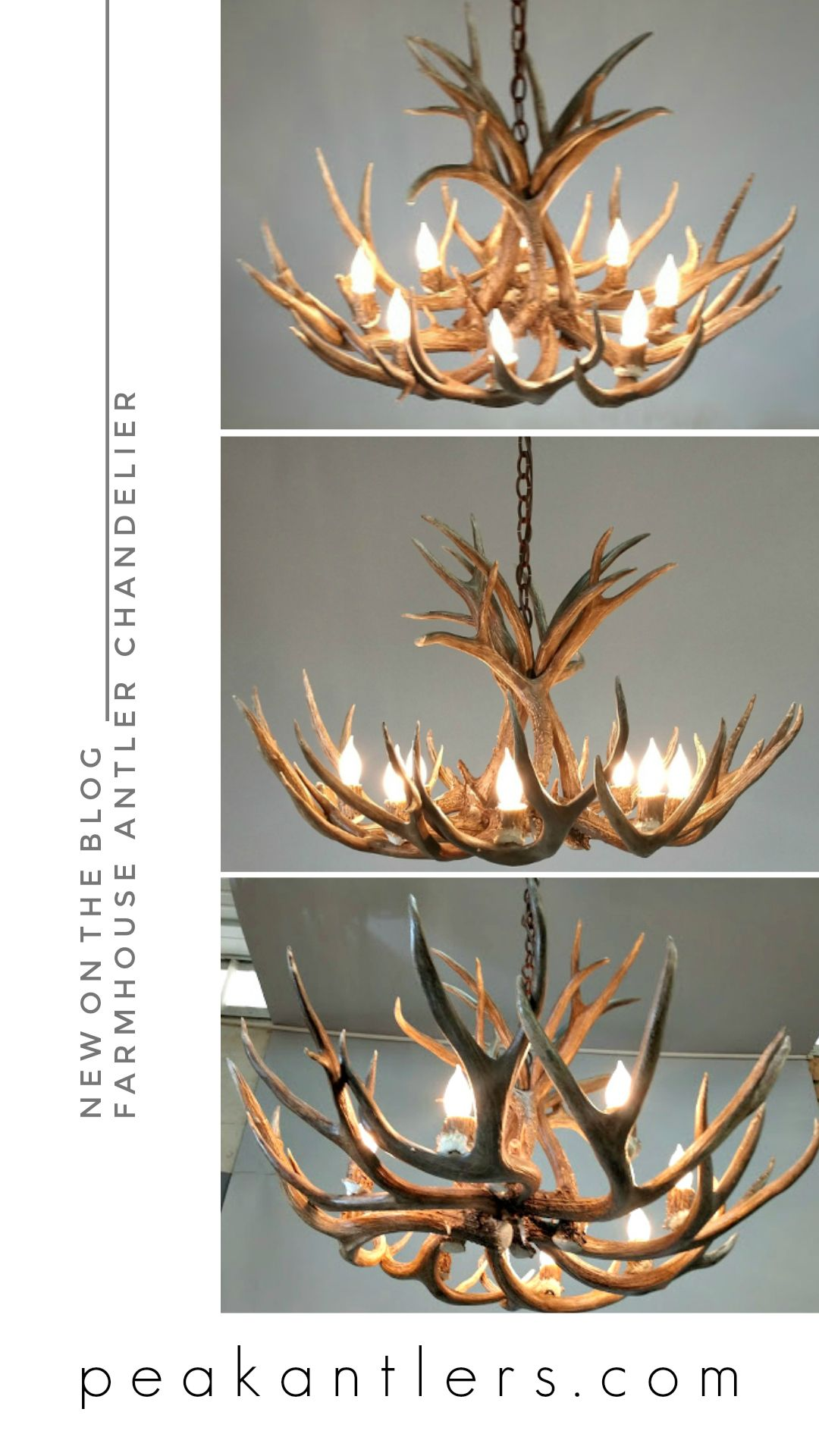 Farmhouse Style Decorating With Antler Chandeliers Real Antler
