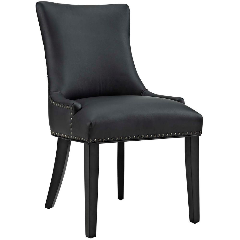 Outstanding Modway Marquis Black Faux Leather Dining Chair Products Pabps2019 Chair Design Images Pabps2019Com