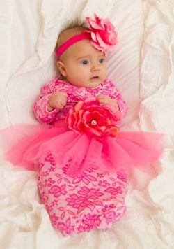Newborn    Newborn Layettes and Outfits    Abbie tulle apron flower gown -  She Bloom - Little girls boutique f865c0176