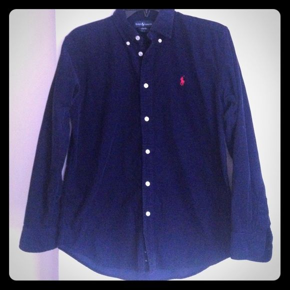 Boy shirt Wear twice,it fit and 13/14 jears,The color is dark blu,in the pic looks black Ralph Lauren Other