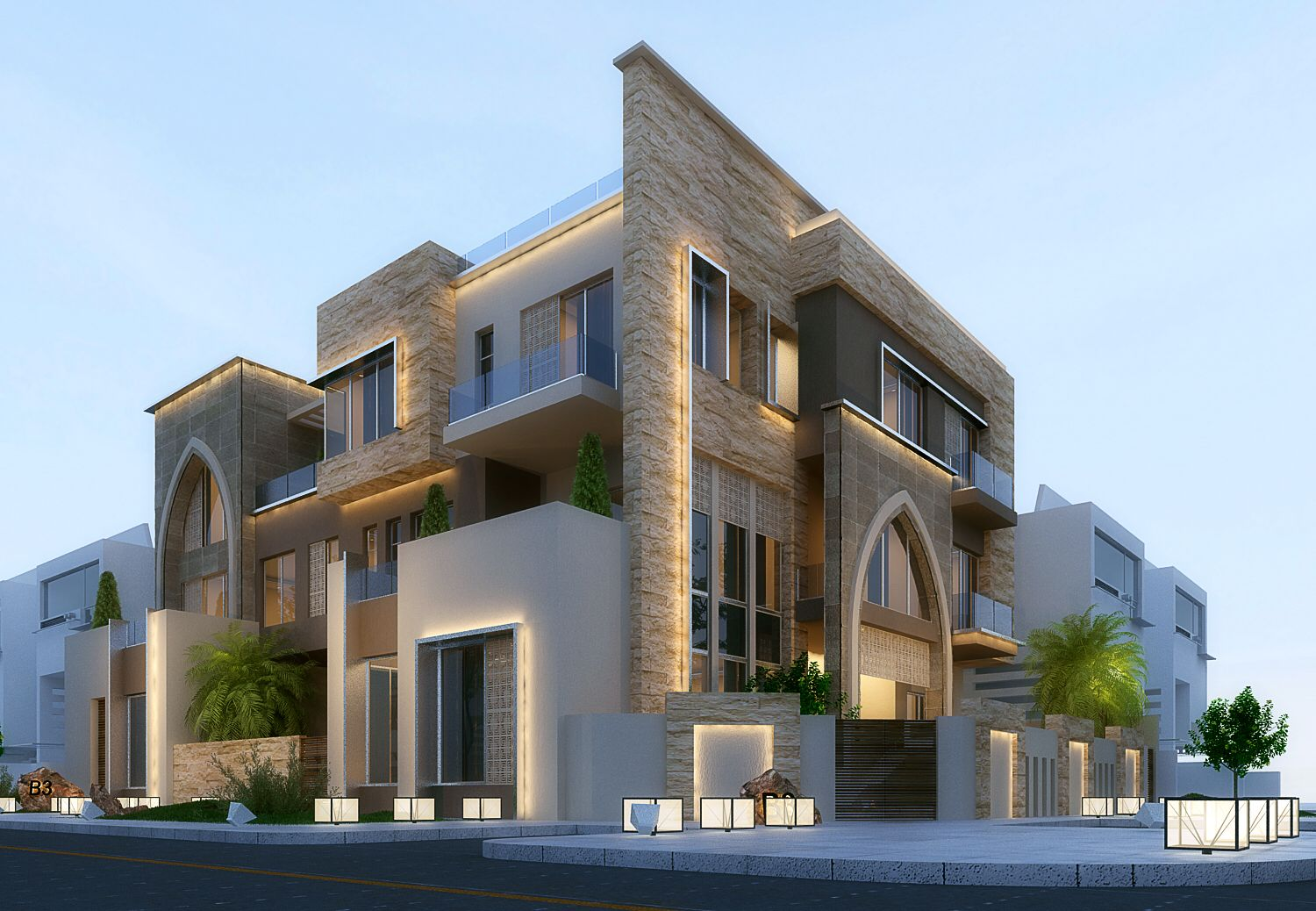 Modern Villa In Kuwait . 3ds Max Vray And