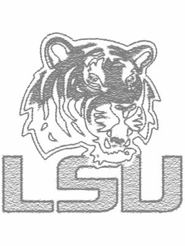 print lsu color pages free | lsu tigers college football coloring ... - Printable Football Coloring Pages