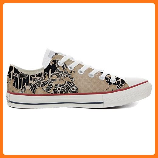 Converse All Star Hi Customized personalisierte Schuhe (Handwerk Schuhe) Floreal Abstract