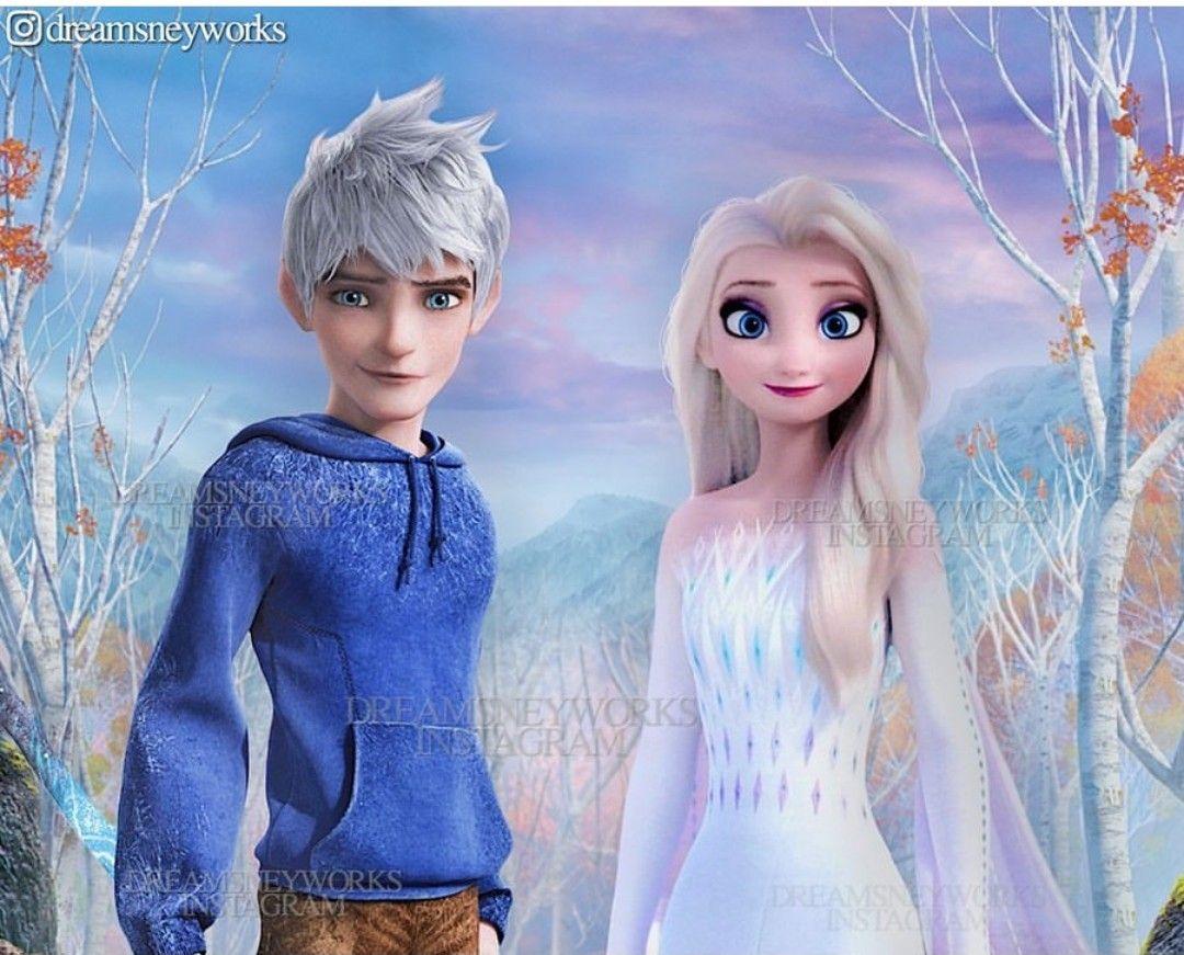 Jelsa Elsa And Jack Frost Frozen 2 Rotg By Dreamsneyworks Instagram Jack Frost Jelsa Jack Frost And Elsa