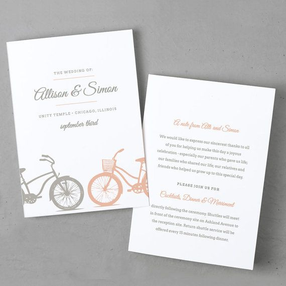 Printable Wedding Program Template Instant By Swellandgrand  Diy