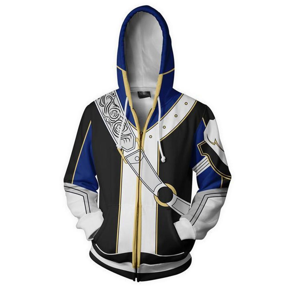 Fire Emblem Robin Cosplay Costume 3D Printed Sweatshirt Hoodie Jacket Coat HOT