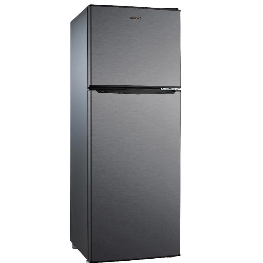 Whirlpool Wh46ts2e 4 6 Cu Ft Freestanding Compact Refrigerator With Freezer Compartment Black Stainle Compact Refrigerator Refrigerator Stainless Steel Fridge