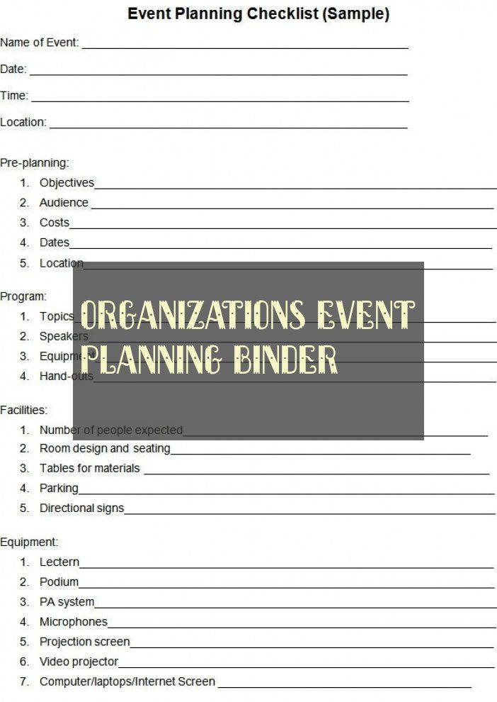 Organizations Event Planning Binder Ordner Für Organisationsereignisplanung