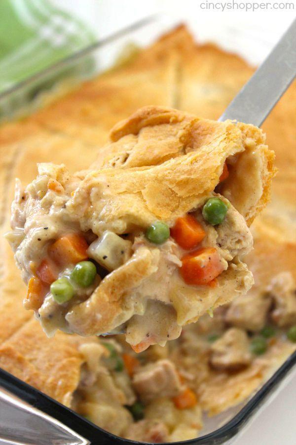 Chicken Pot Pie Casserole -   17 turkey pot pie recipe easy pillsbury ideas