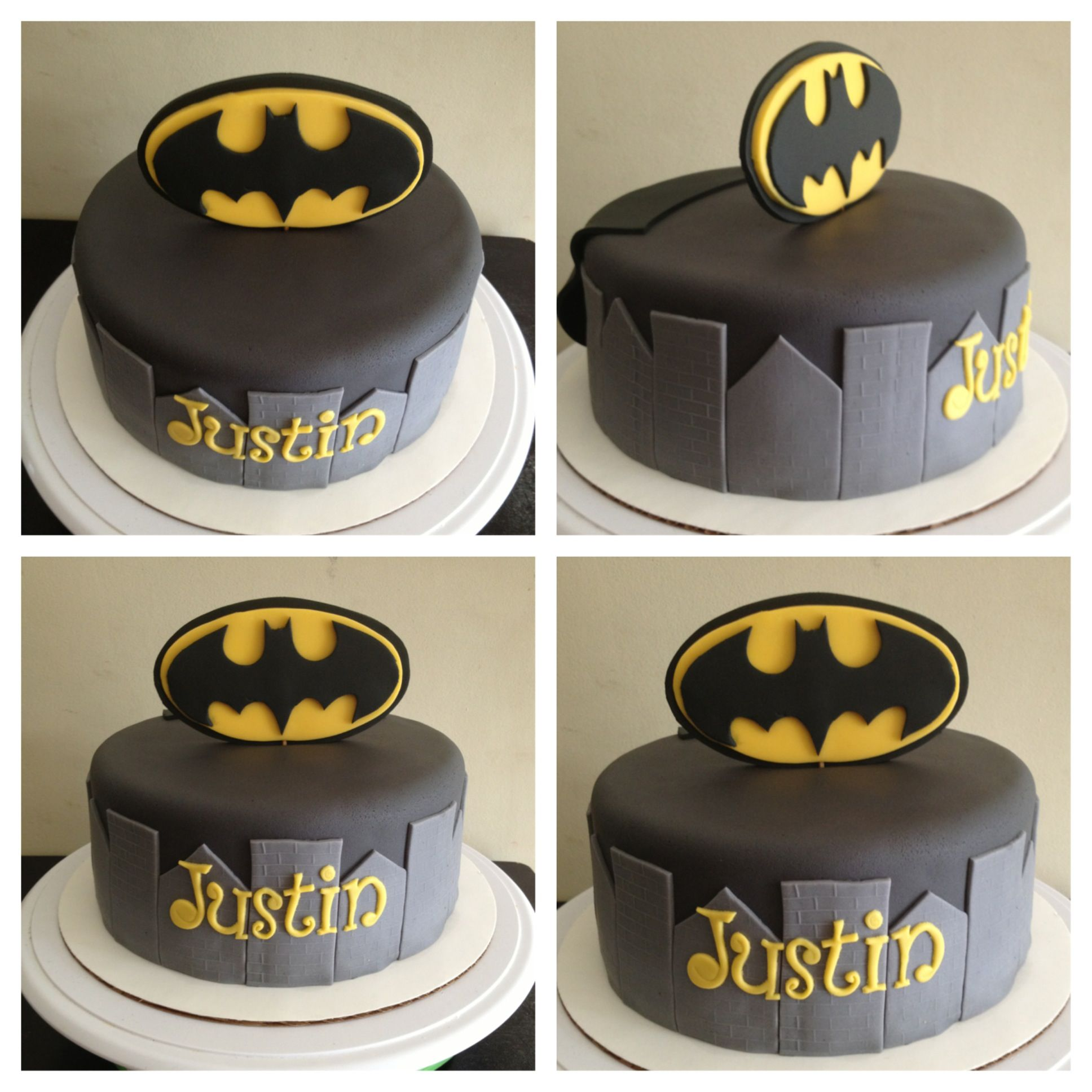 BATMAN CAKEi like this its simple and clean cut CakesN