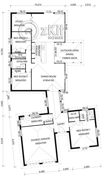 Pavillion House Plans | Quays Pavilion Brick Veneer   Oz Kit Homes