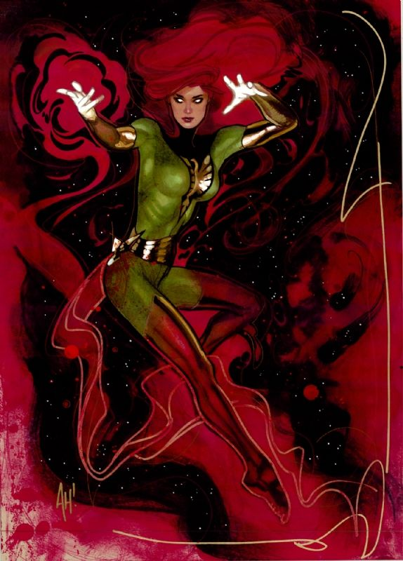 Phoenix - Jean Grey - X-men - Commission - Adam Hughes Comic Art